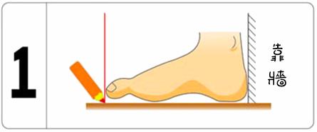 童鞋測量腳長