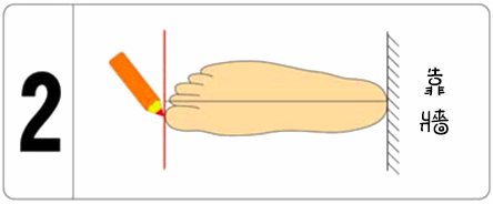測量腳長做記號