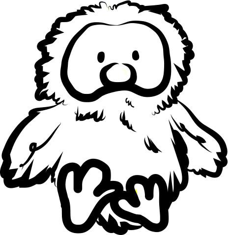 樂樂童鞋黑白 logo