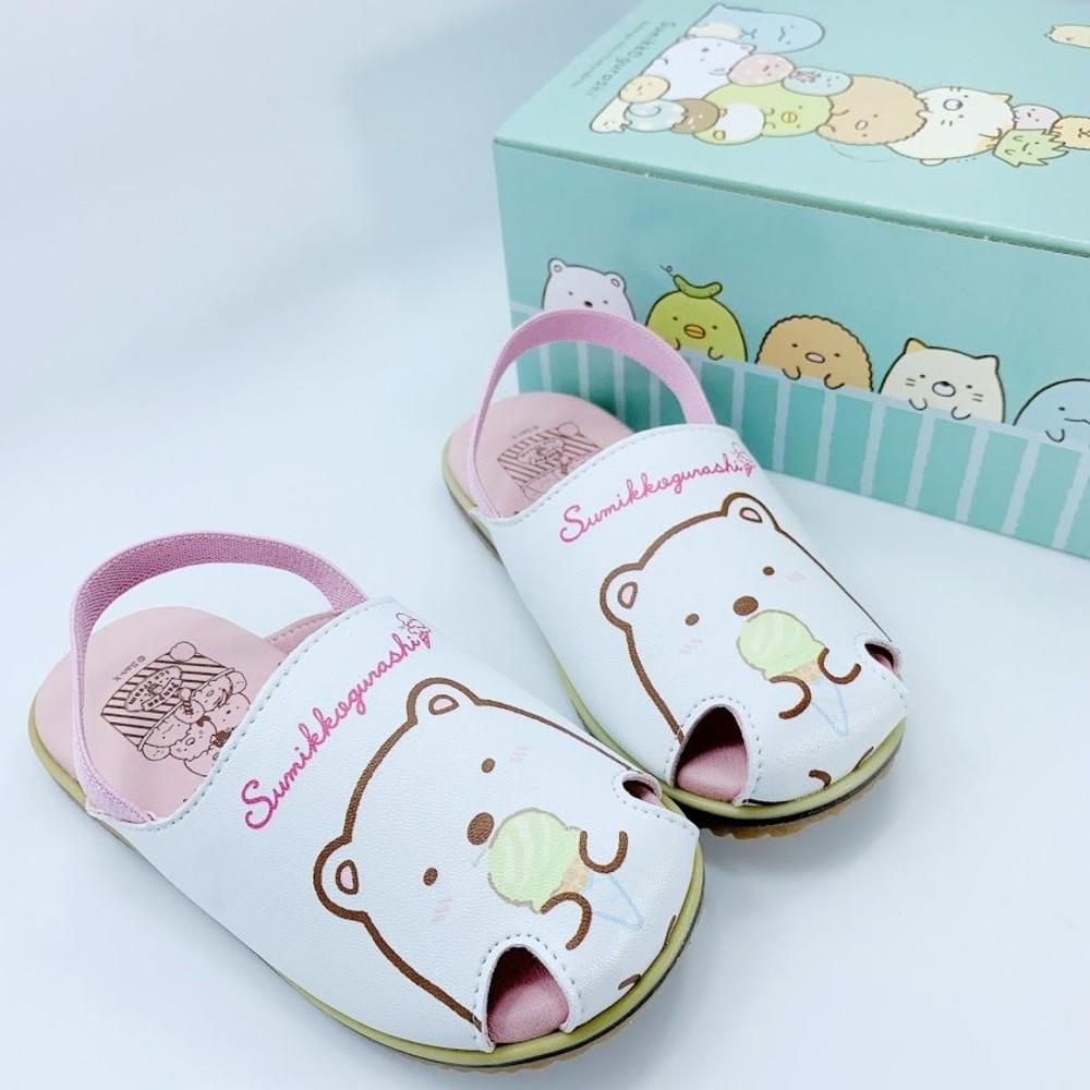 童鞋 台灣製角落生物寶寶涼鞋-白色