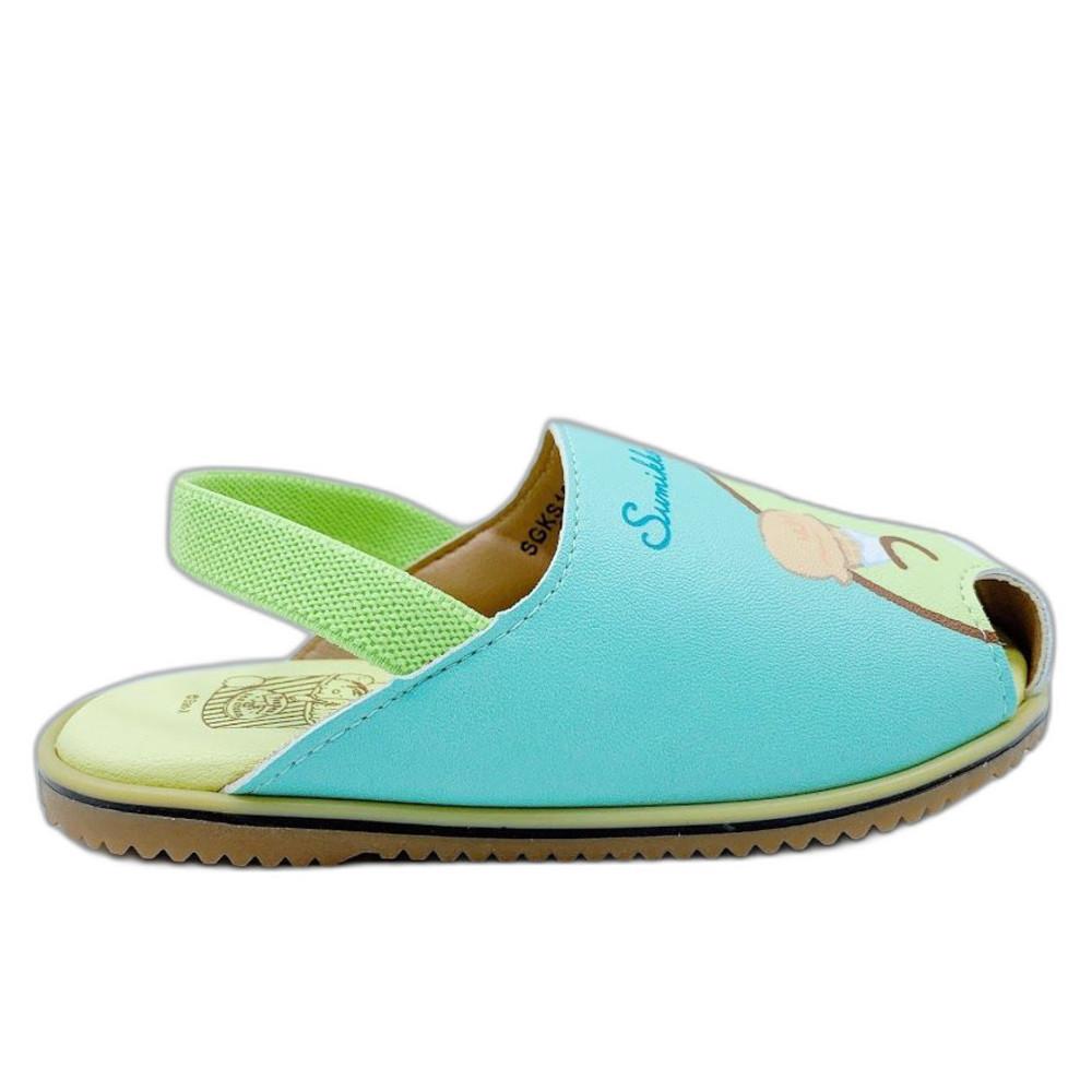 台灣製角落生物寶寶涼鞋-綠色