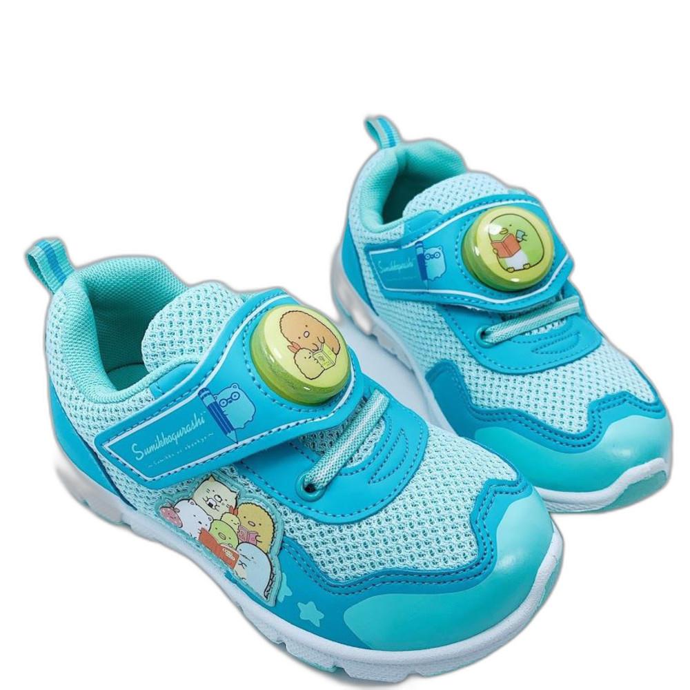 B019-1 - 台灣製角落生物電燈運動鞋-湖水藍