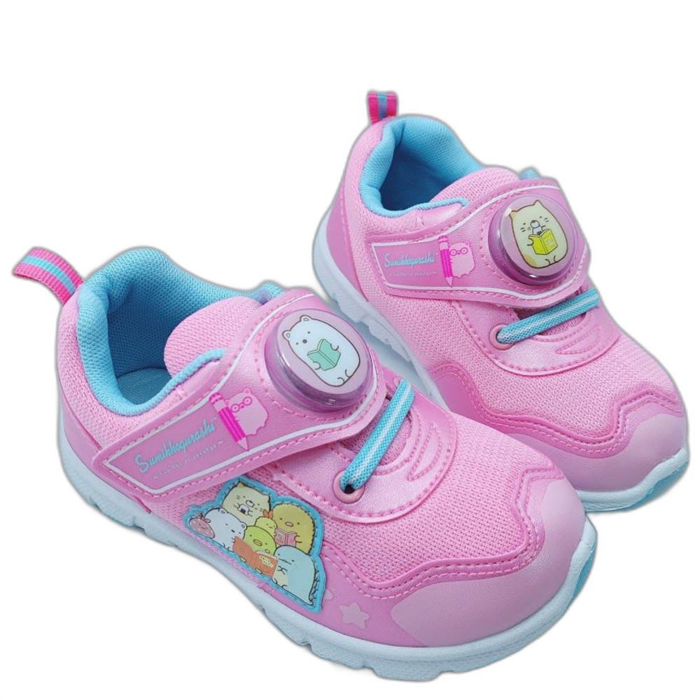 童鞋 台灣製角落生物電燈運動鞋-粉紅