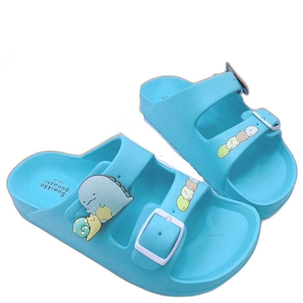B020-1-台灣製角落生物拖鞋-湖水藍