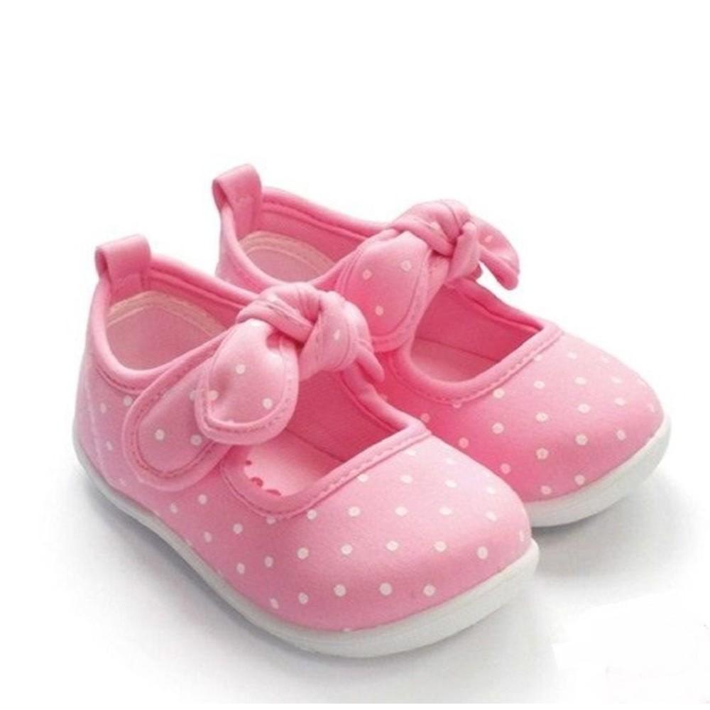 C021-1 - MIT點點蝴蝶結娃娃鞋-粉