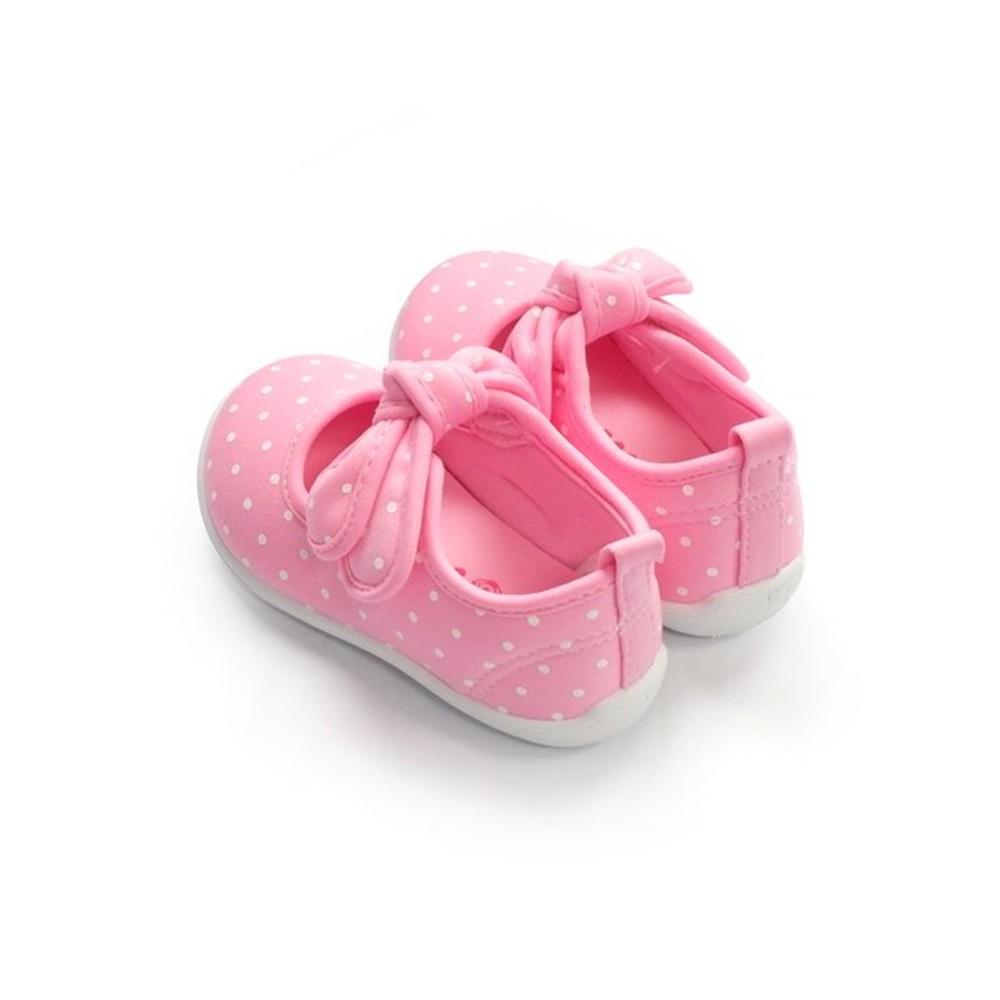 【台灣製現貨】MIT點點蝴蝶結娃娃鞋-藍