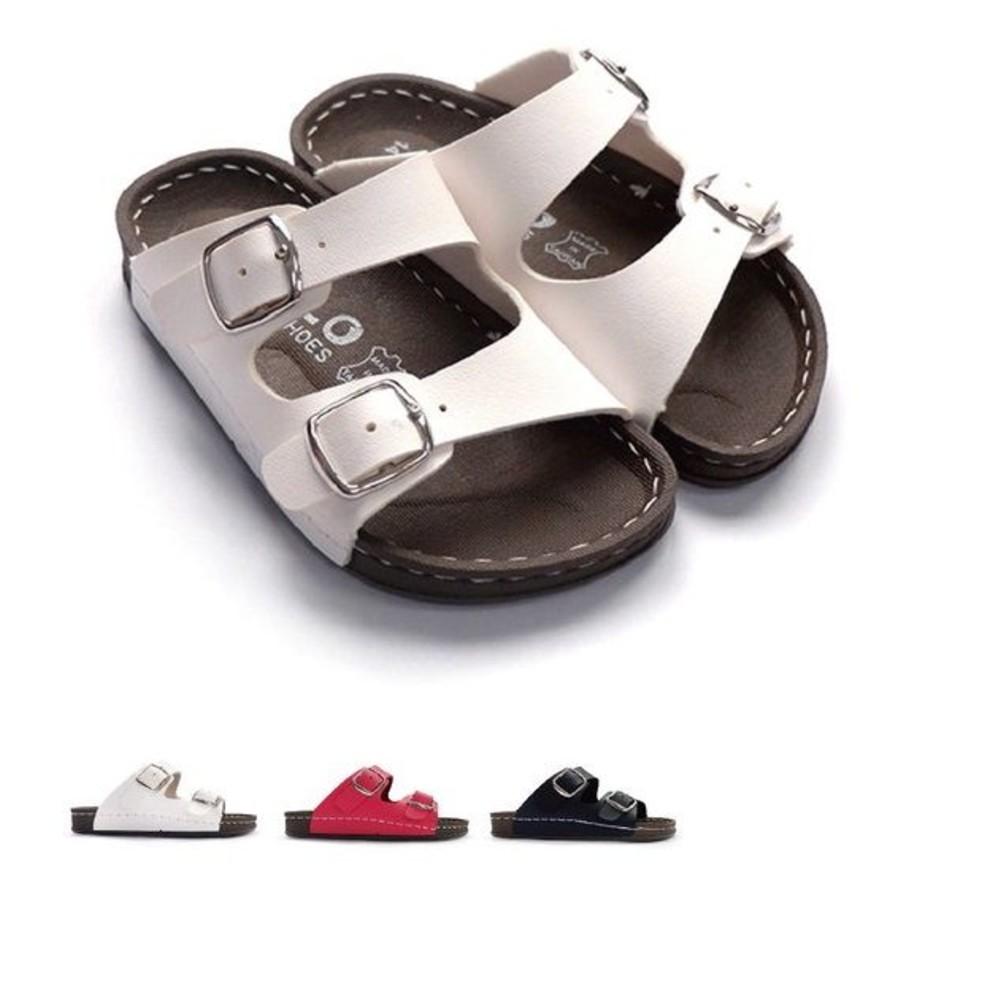 C024-【台灣現貨】MIT金扣雙帶拖鞋