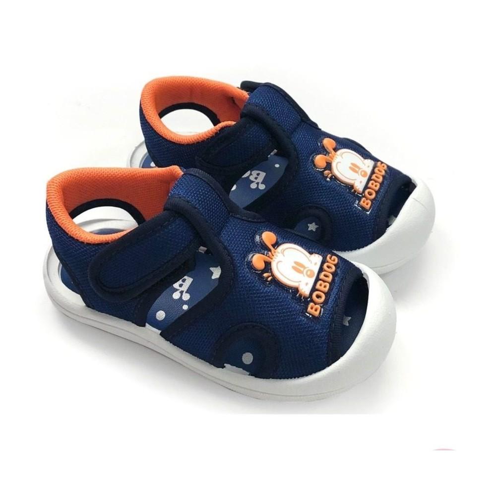 C025-1 - MIT圓頭護趾涼鞋-藍