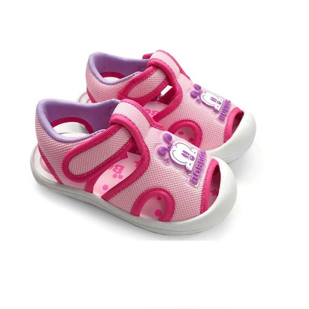 C025-【台灣製現貨】MIT圓頭護趾涼鞋-粉