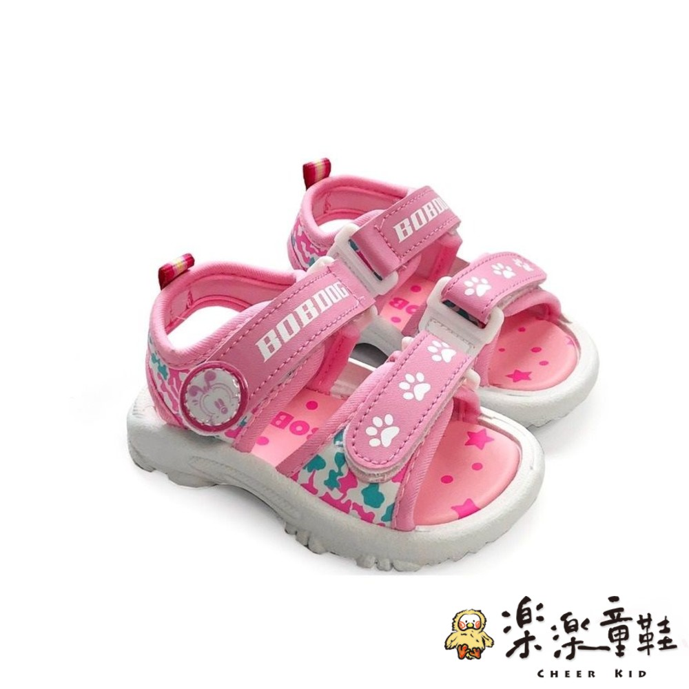 C029-1-【台灣現貨】MIT迷彩兒童涼鞋-粉