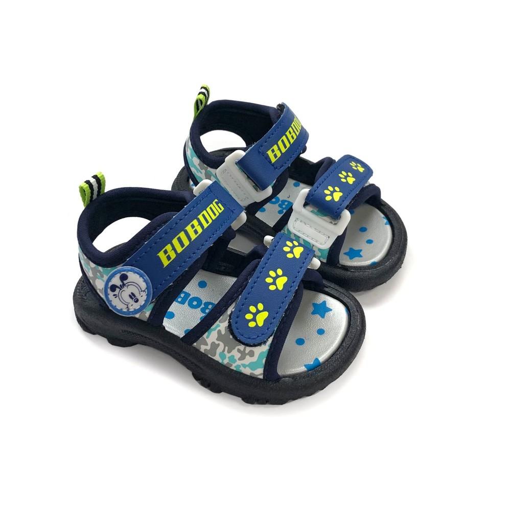 C029-【台灣製現貨】MIT迷彩兒童涼鞋-藍