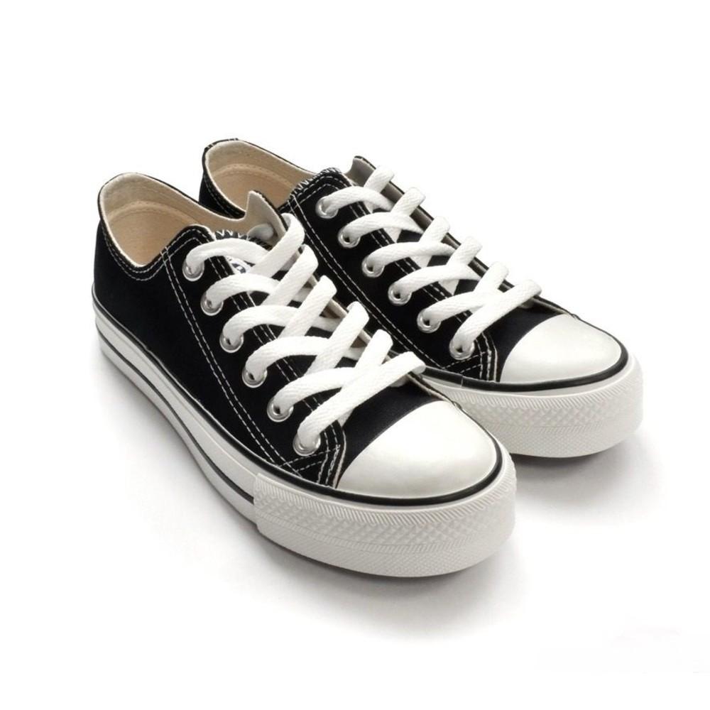 C035-1-【台灣製現貨】MIT經典帆布鞋-黑
