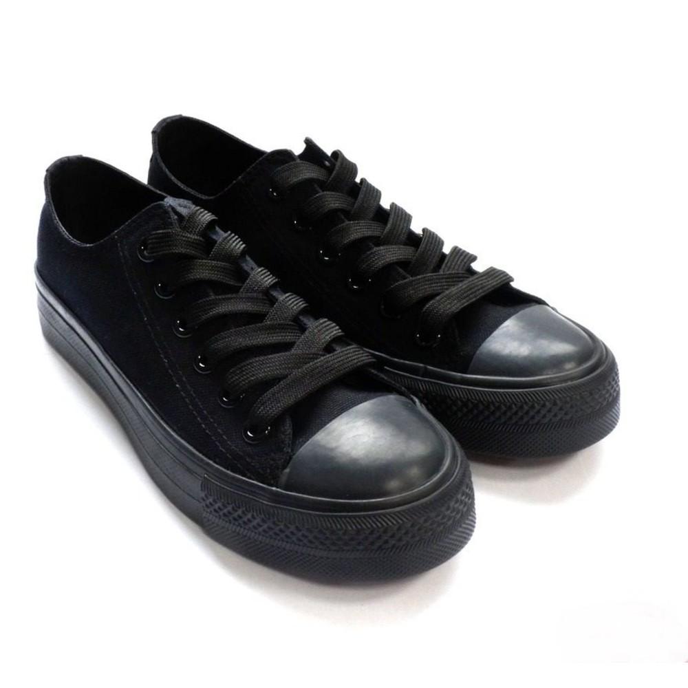 C035-2 - 【台灣製現貨】MIT經典帆布鞋-全黑