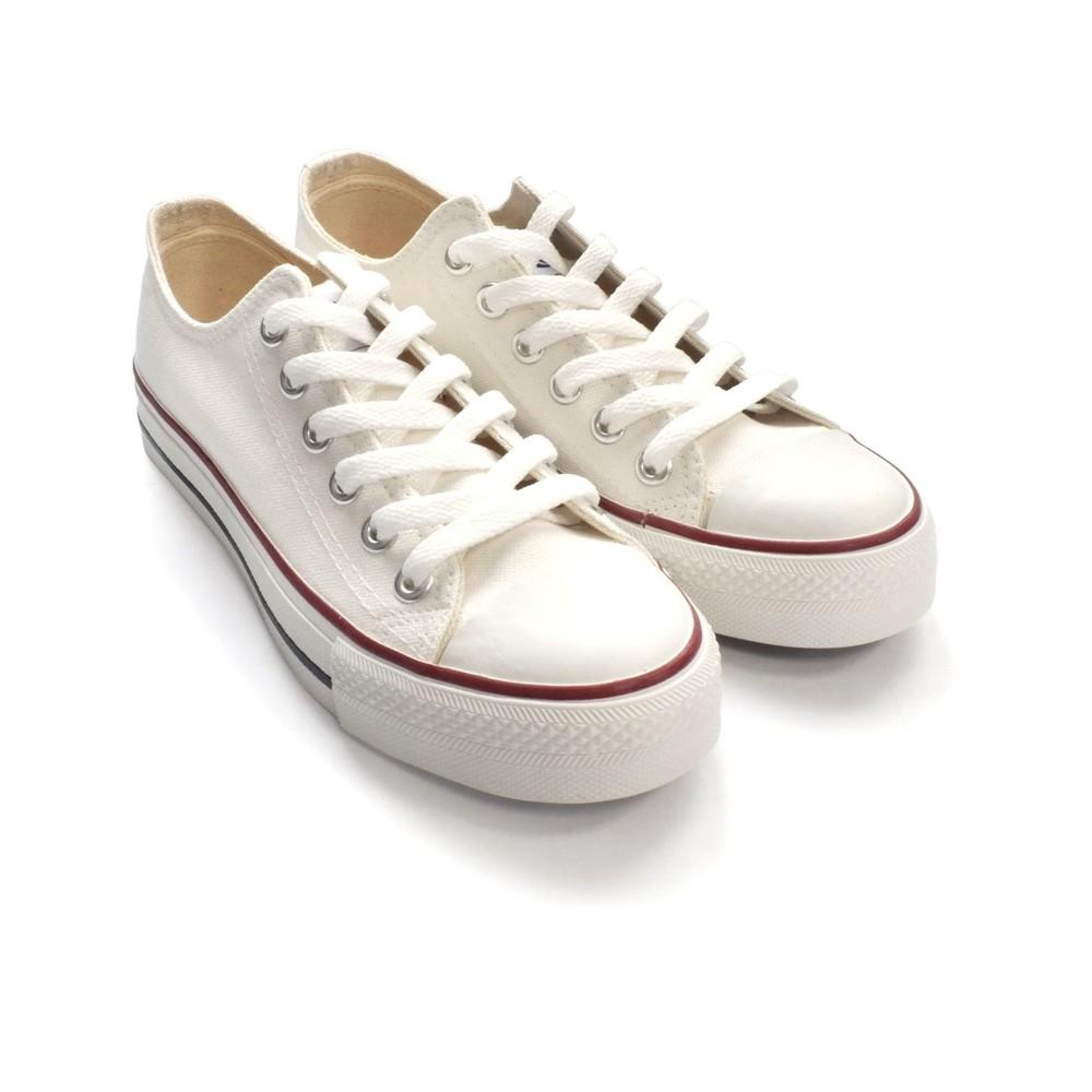 C035 - 【台灣製現貨】MIT經典帆布鞋-白