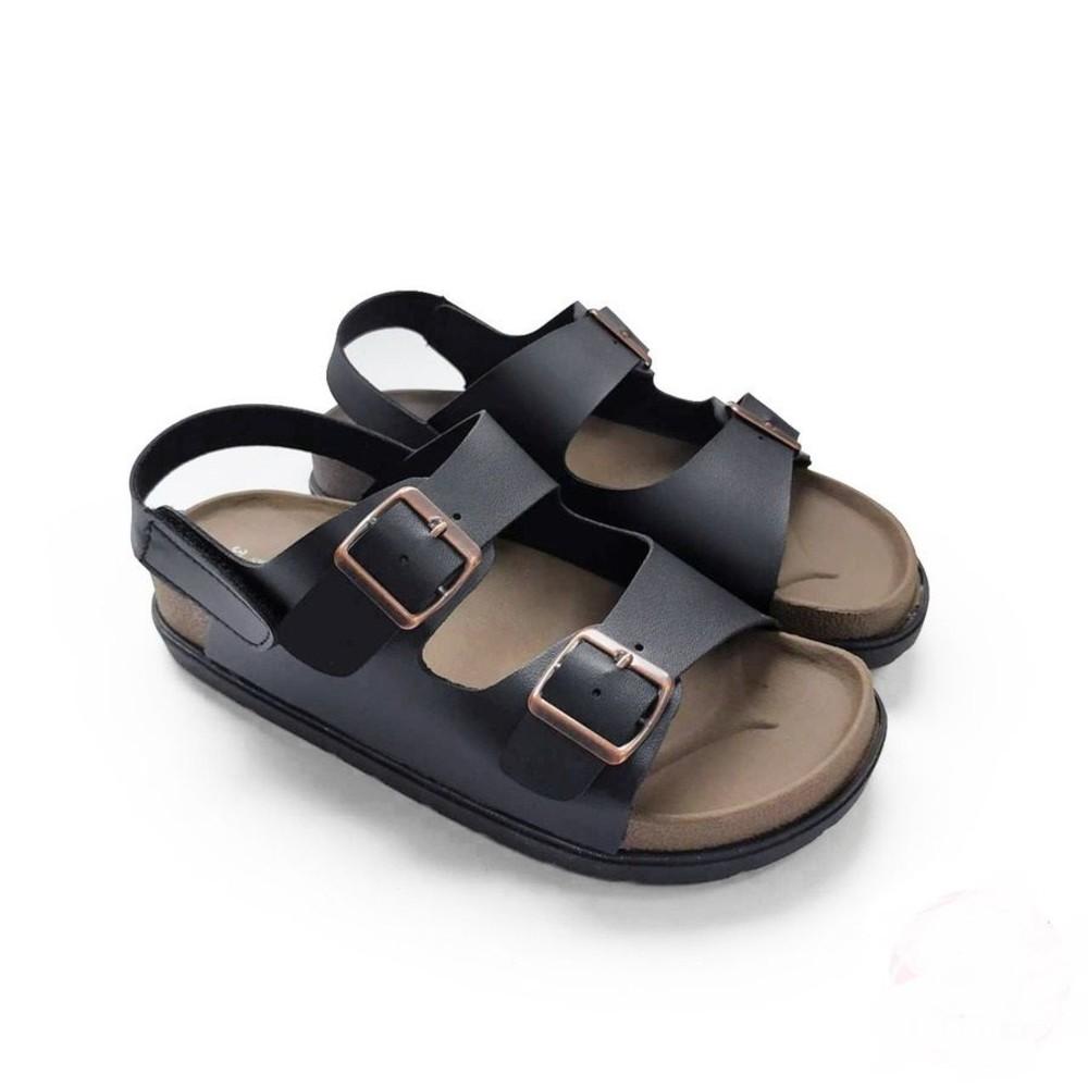 C036-2 - 【台灣製現貨】MIT寬帶涼鞋-黑