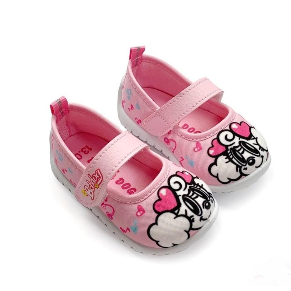 C038-1-【台灣製現貨】MIT巴布豆娃娃鞋-粉