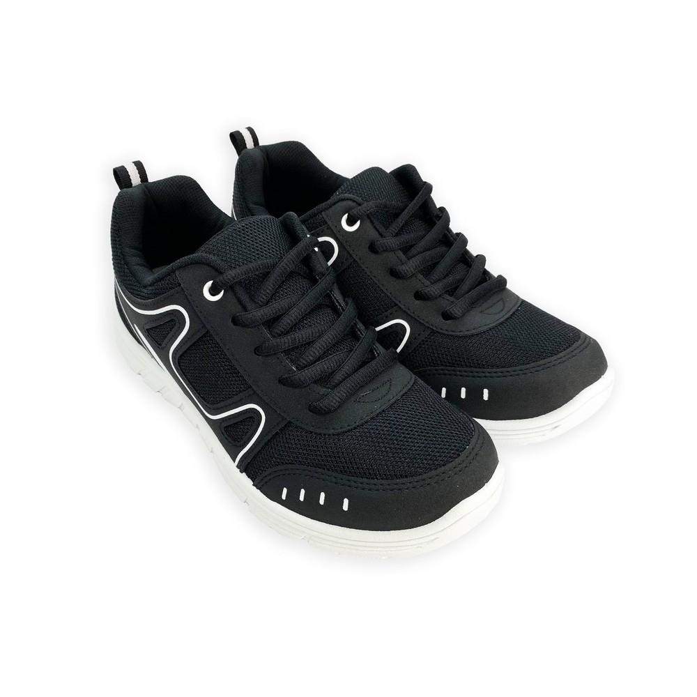 C043 - 【台灣現貨】MIT透氣休閒運動鞋-黑白