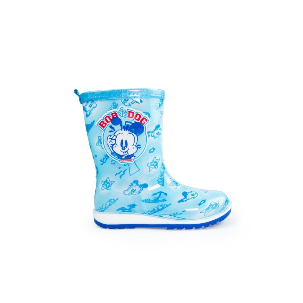 C047-【台灣現貨】巴布豆卡通防滑雨鞋-藍