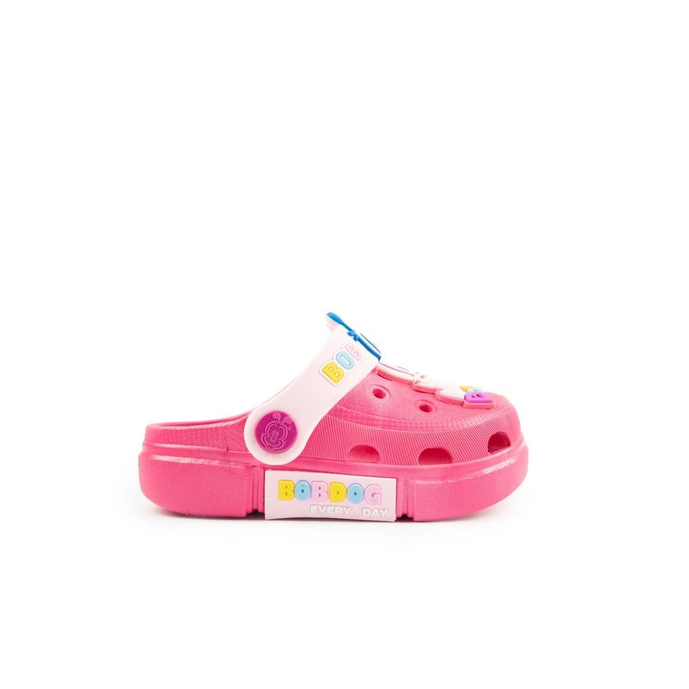 【台灣現貨】巴布豆卡通圖案布希鞋-玫紅