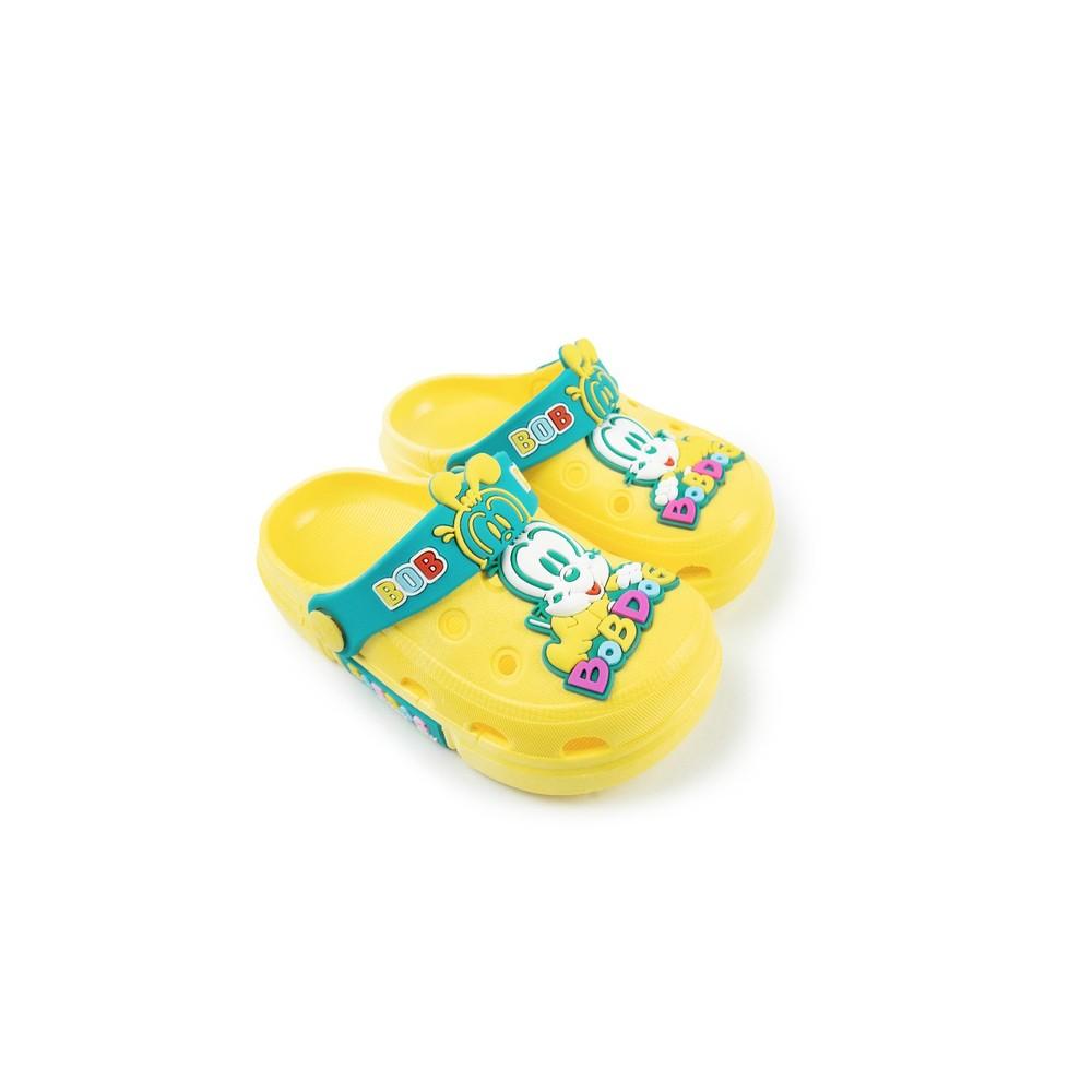 C063-【台灣現貨】巴布豆卡通圖案布希鞋-黃色