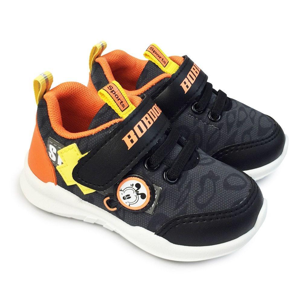 童鞋 【台灣製現貨】巴布豆輕量透氣休閒鞋-黑色