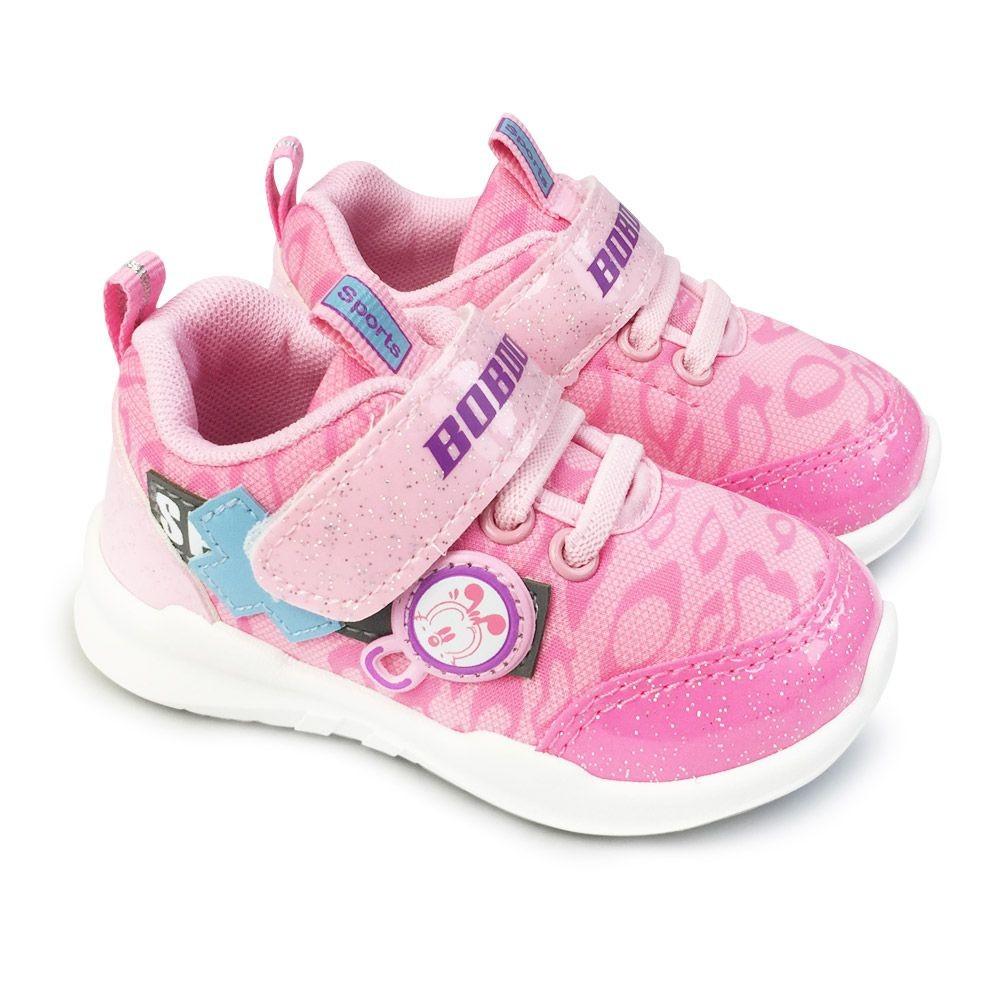 童鞋 【台灣製現貨】巴布豆輕量透氣休閒鞋-粉色