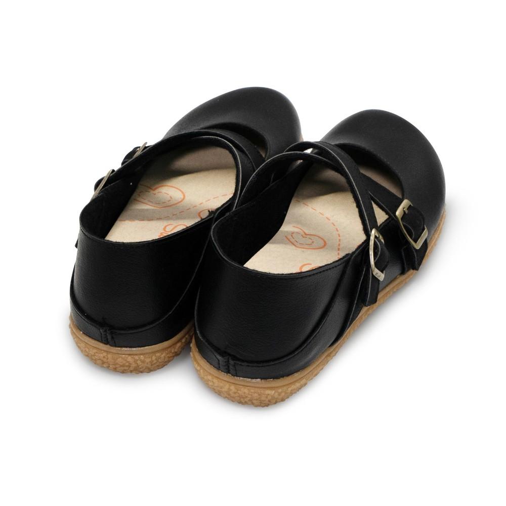 【台灣製現貨】調式扣帶休閒娃娃鞋-米咖