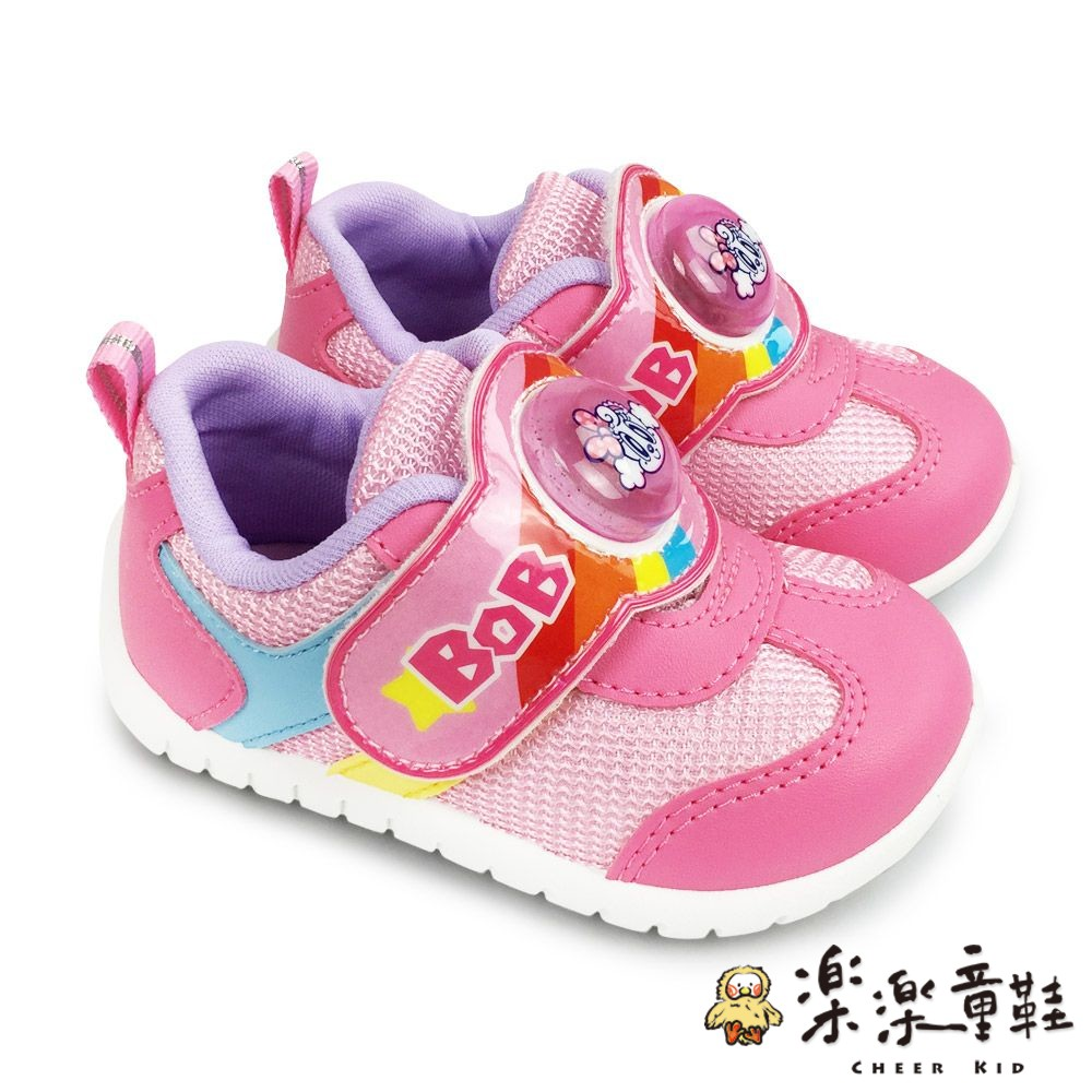 C080-【台灣製現貨】巴布豆運動電燈鞋-粉色