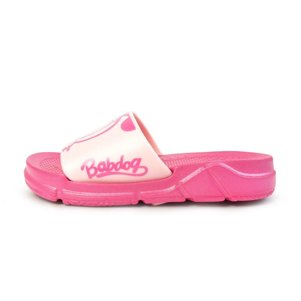 台灣製巴布豆圖案拖鞋-桃粉