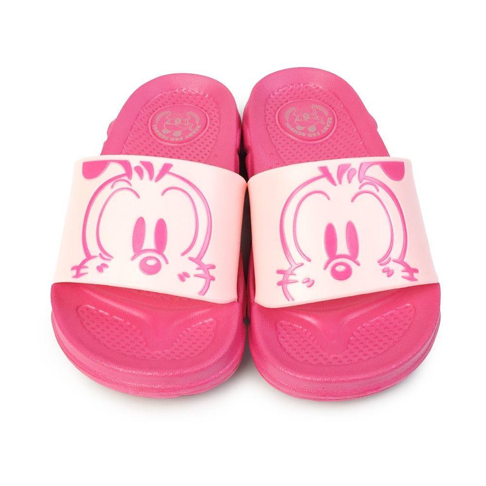 C082-1-台灣製巴布豆圖案拖鞋-桃粉