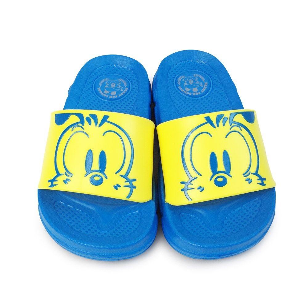 C082-台灣製巴布豆圖案拖鞋-藍黃