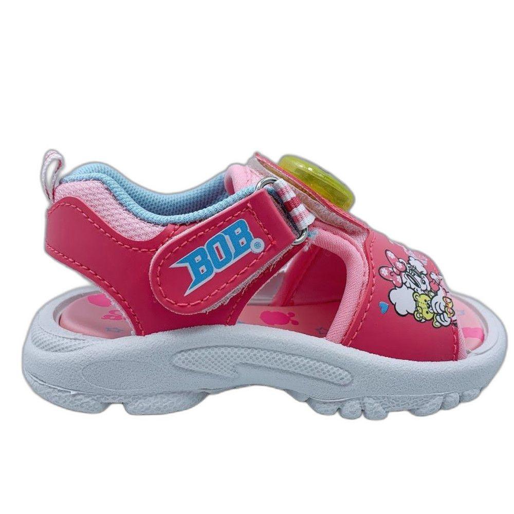 台灣製巴布豆電燈涼鞋-粉色