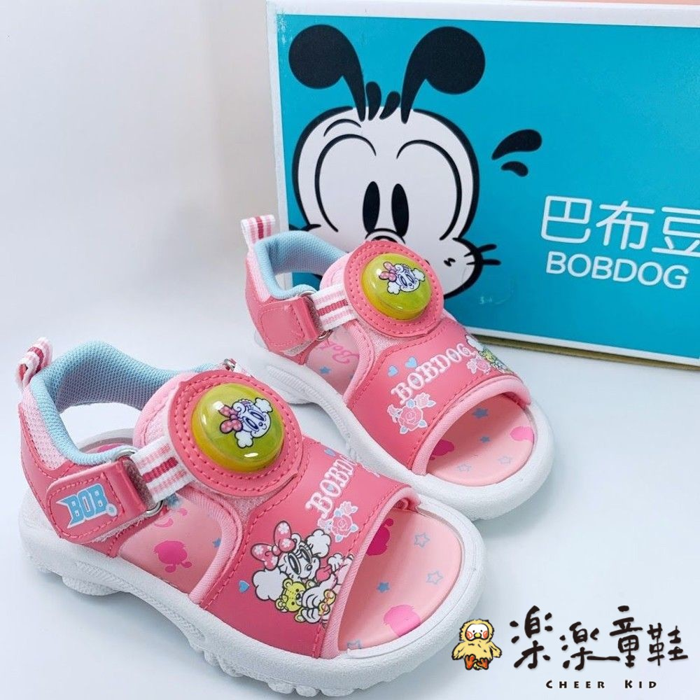 C087-1-台灣製巴布豆電燈涼鞋-粉色