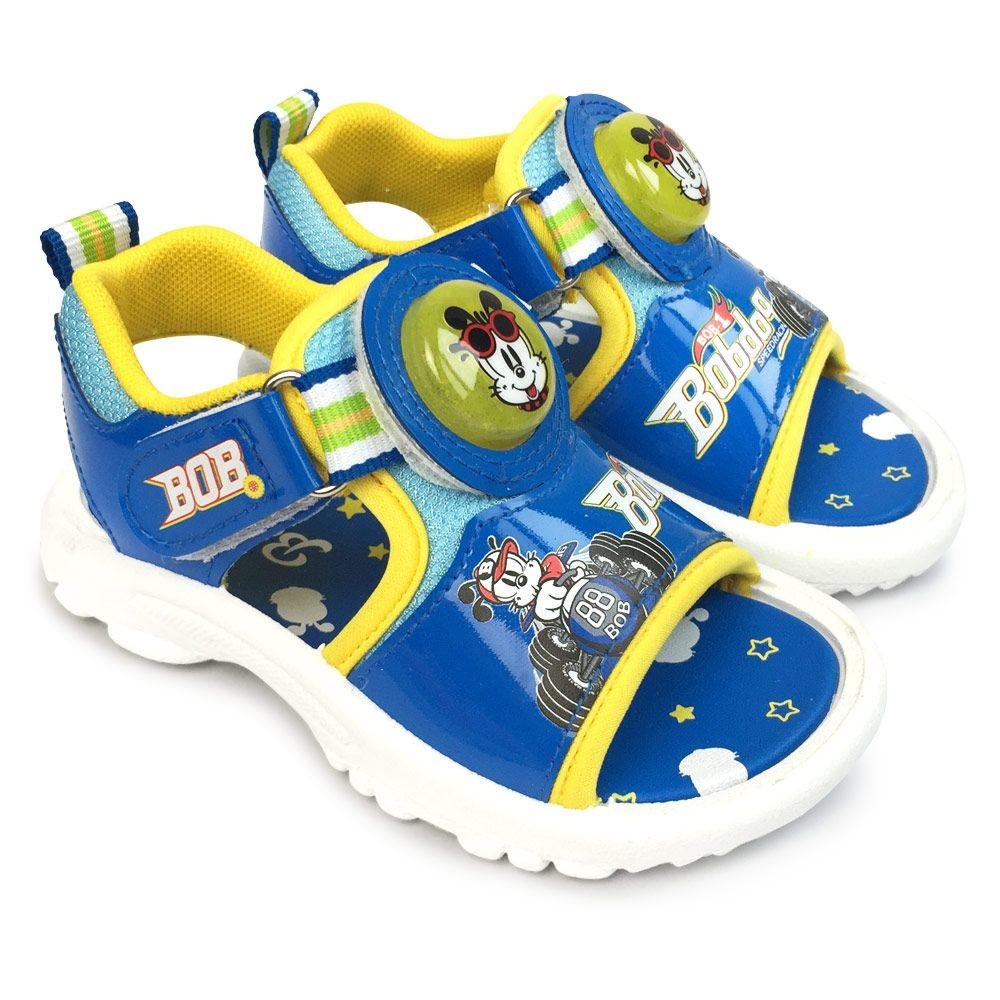 C087-台灣製巴布豆電燈涼鞋-藍色