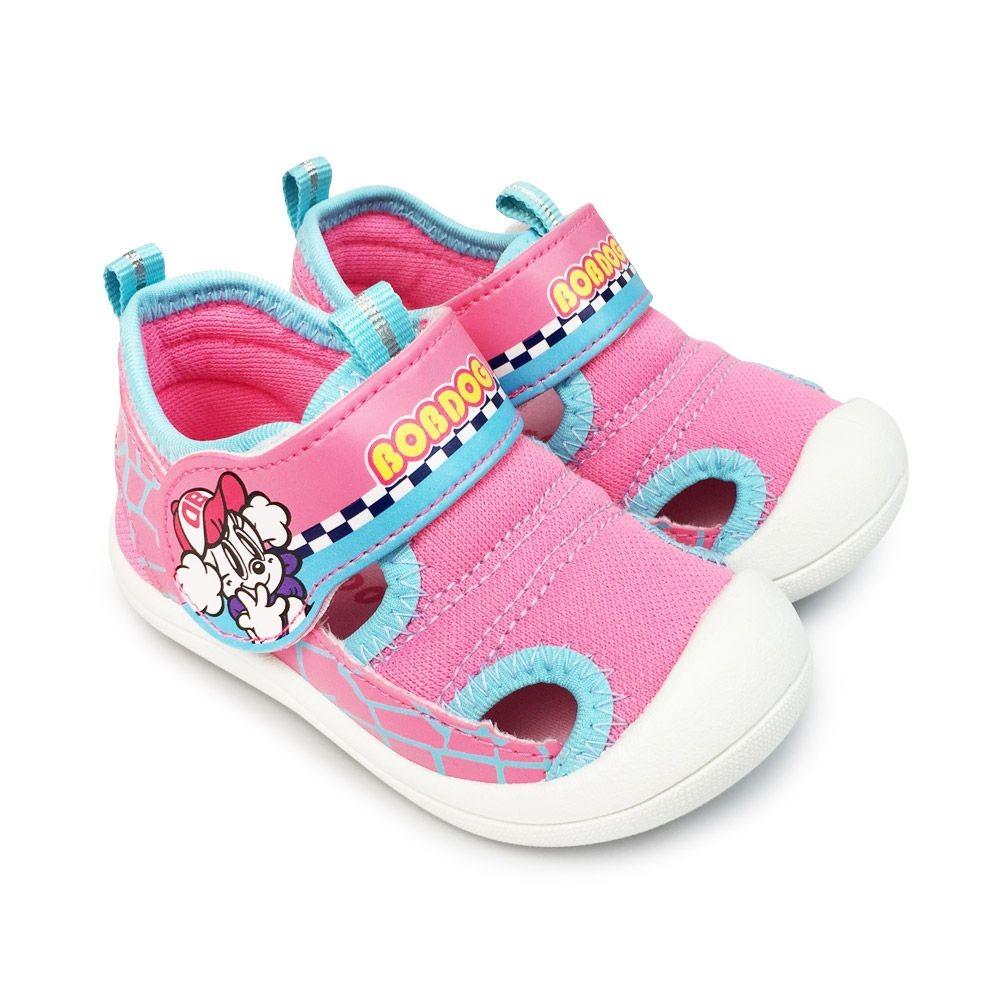 童鞋 台灣製巴布豆護趾涼鞋-粉色