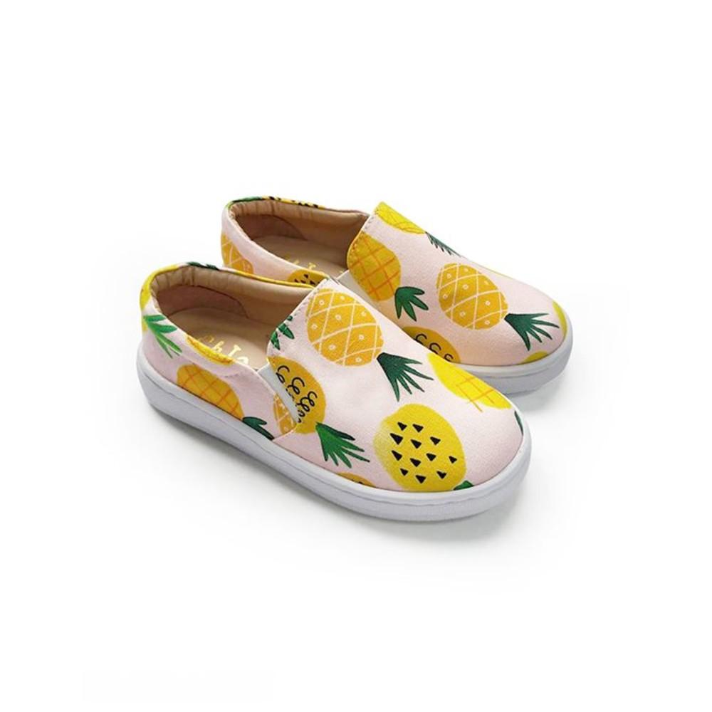童鞋 台灣製旺旺來花布懶人鞋-綠色
