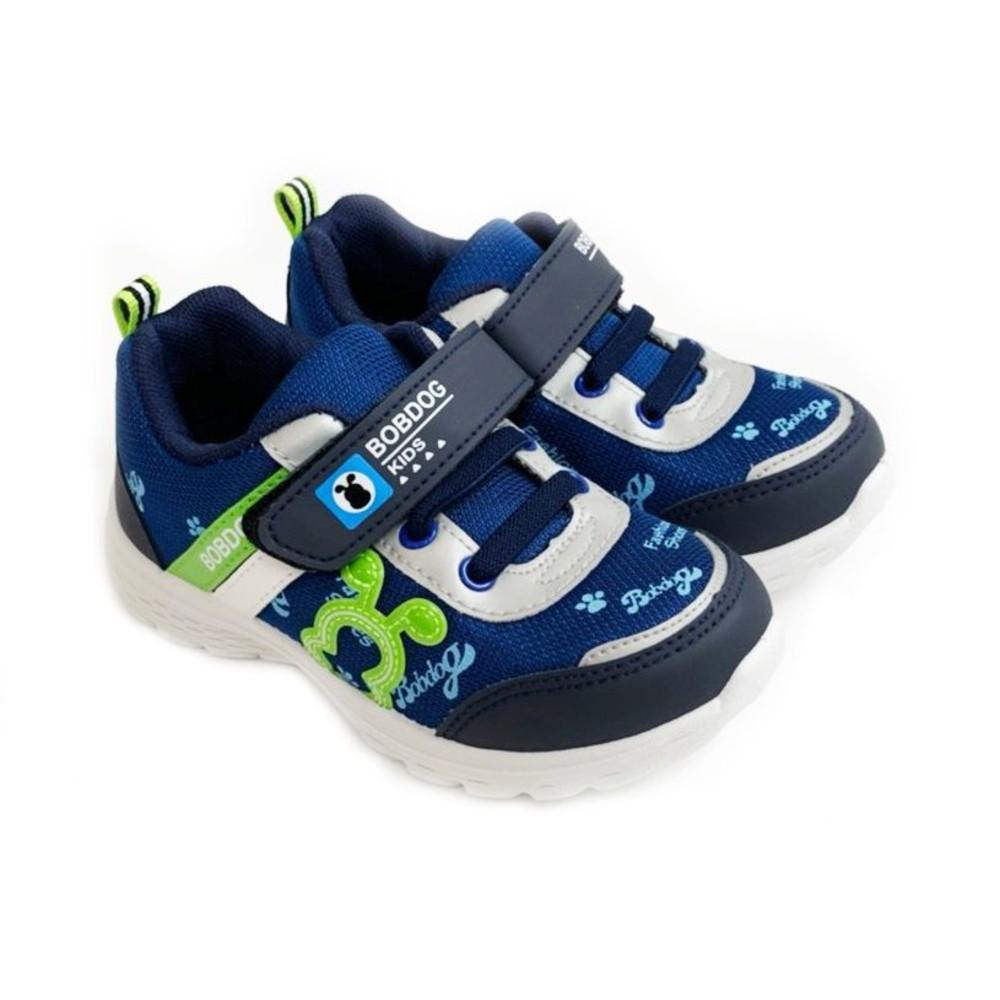 C092-1-台灣製巴布豆透氣運動鞋-藍色