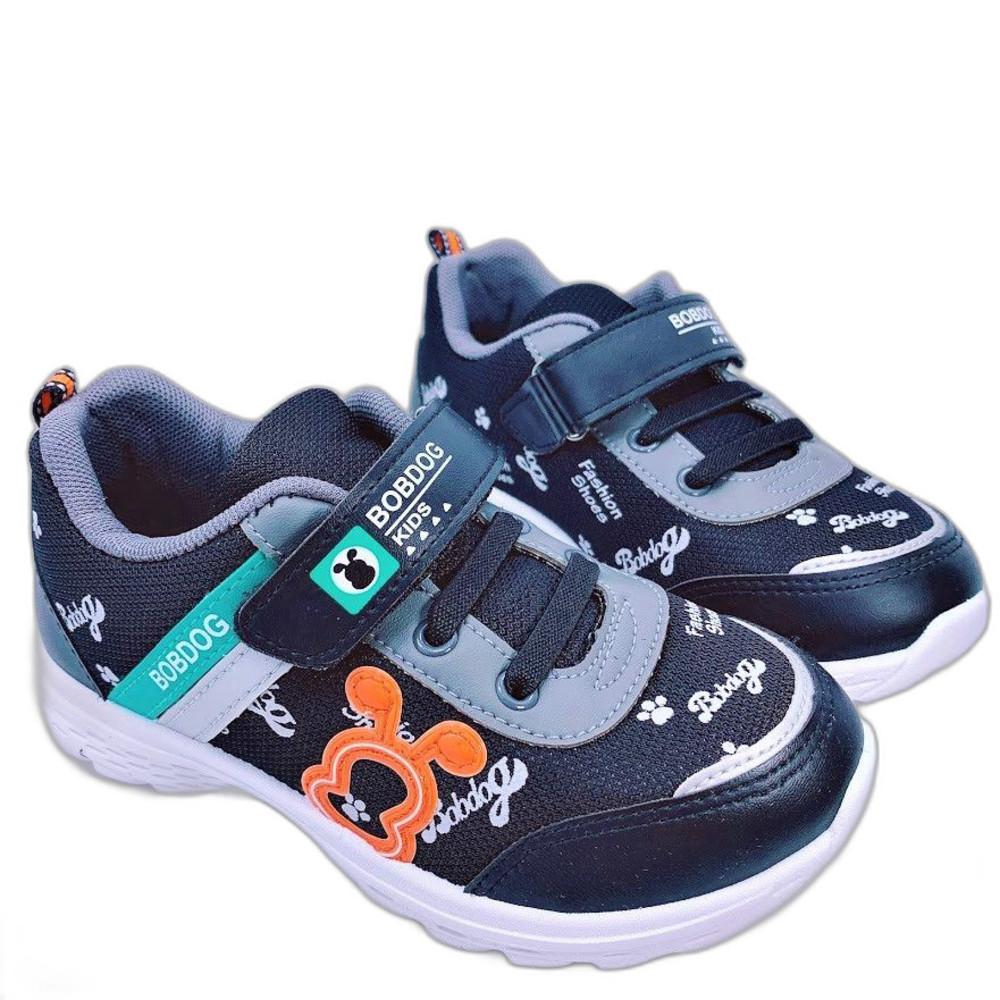 C092-2-台灣製巴布豆透氣運動鞋-黑色