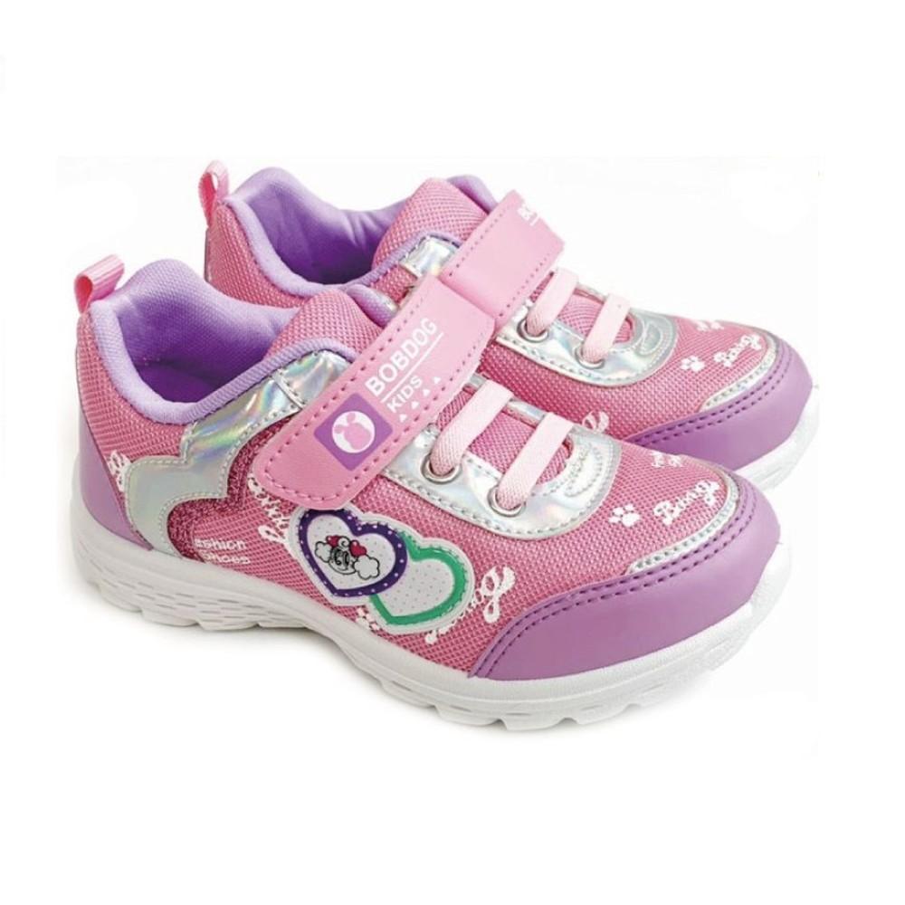 C092-台灣製巴布豆透氣運動鞋-粉色