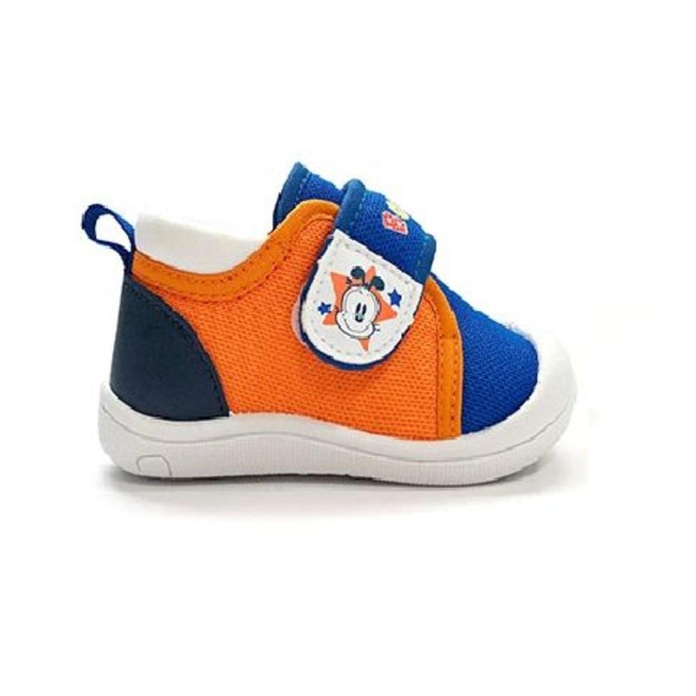 台灣製防撞圓頭寶寶鞋-藍橘