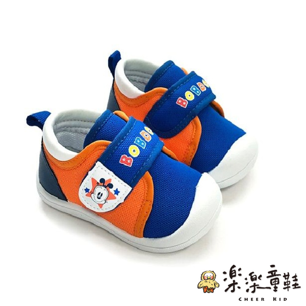 C093-台灣製防撞圓頭寶寶鞋-藍橘
