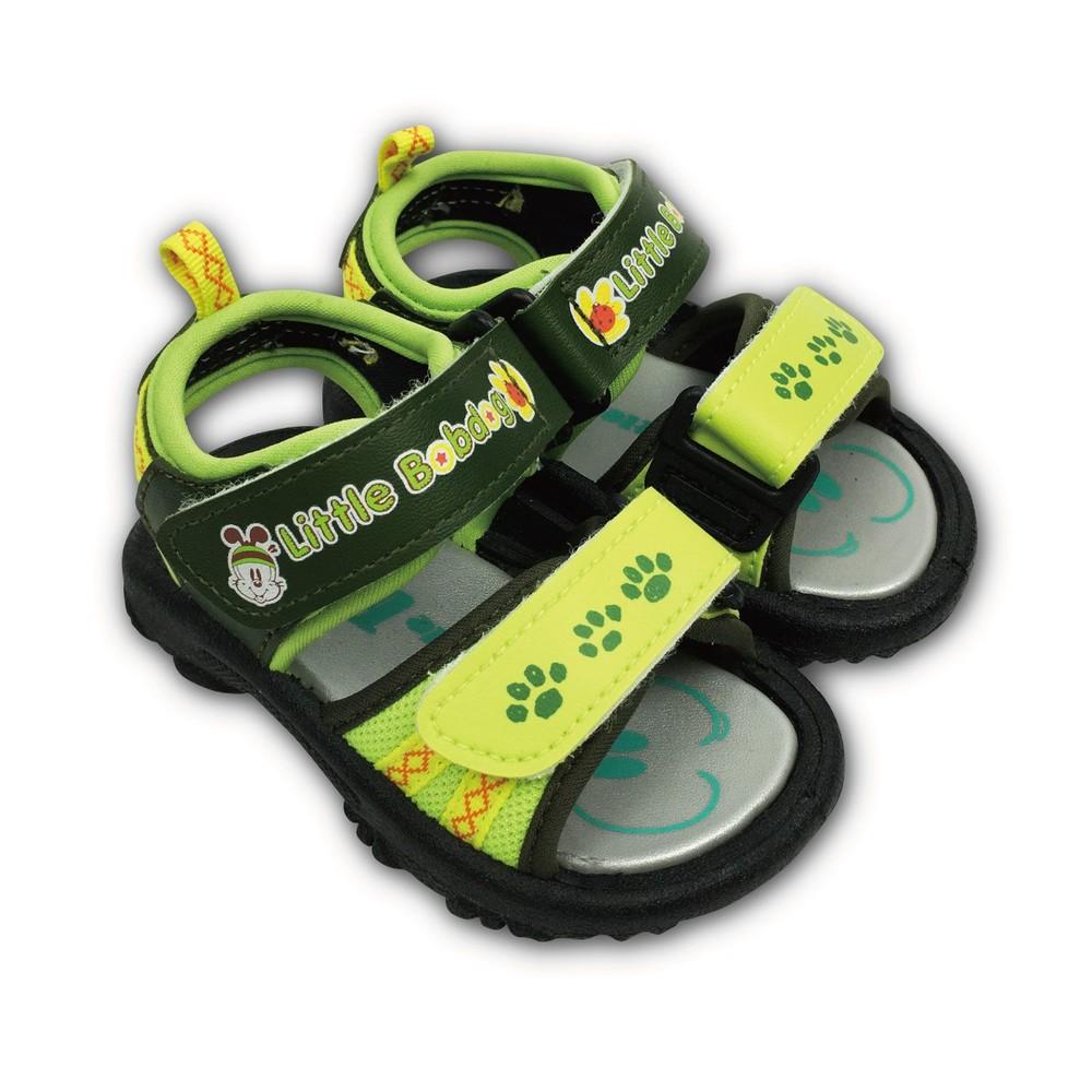 C095-1-台灣製巴布豆軟底涼鞋-綠色