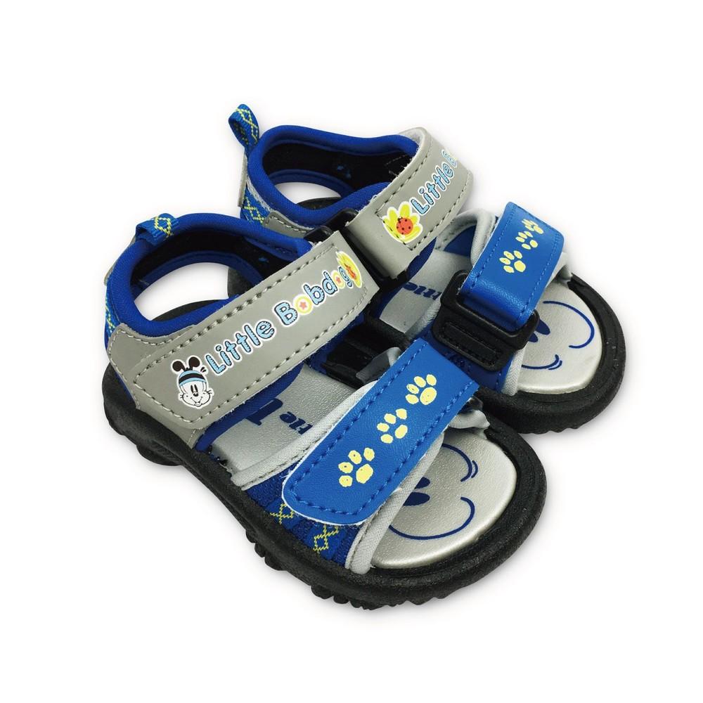 C095-台灣製巴布豆軟底涼鞋-藍色