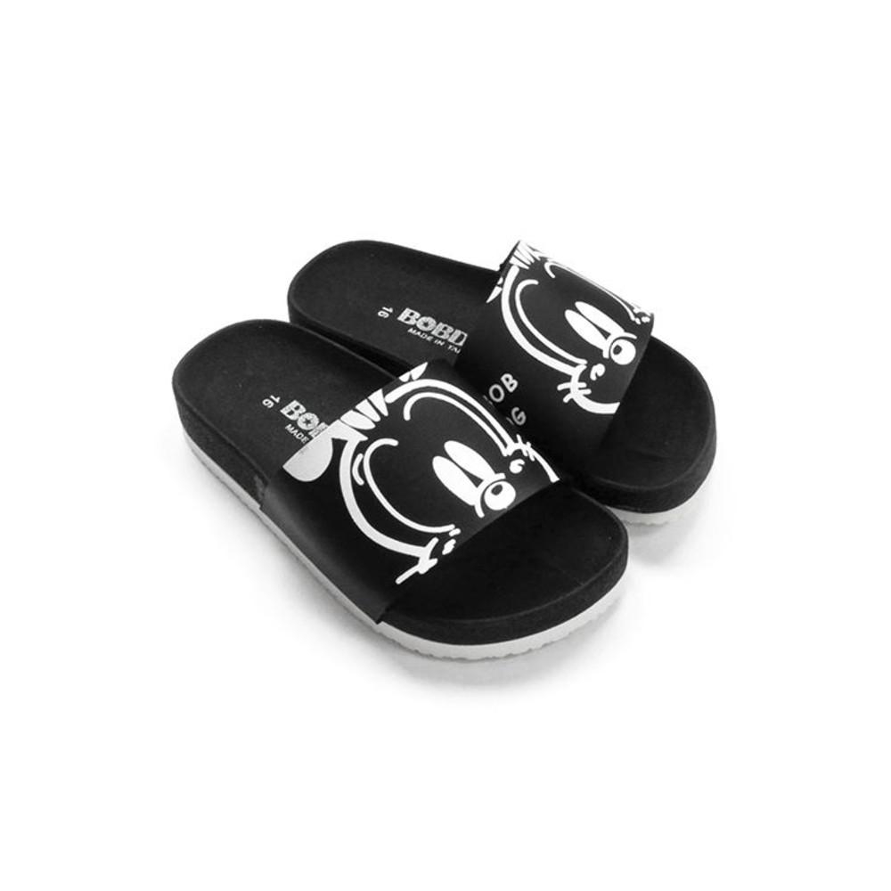 C096-1-台灣製巴布豆親子款拖鞋-黑色