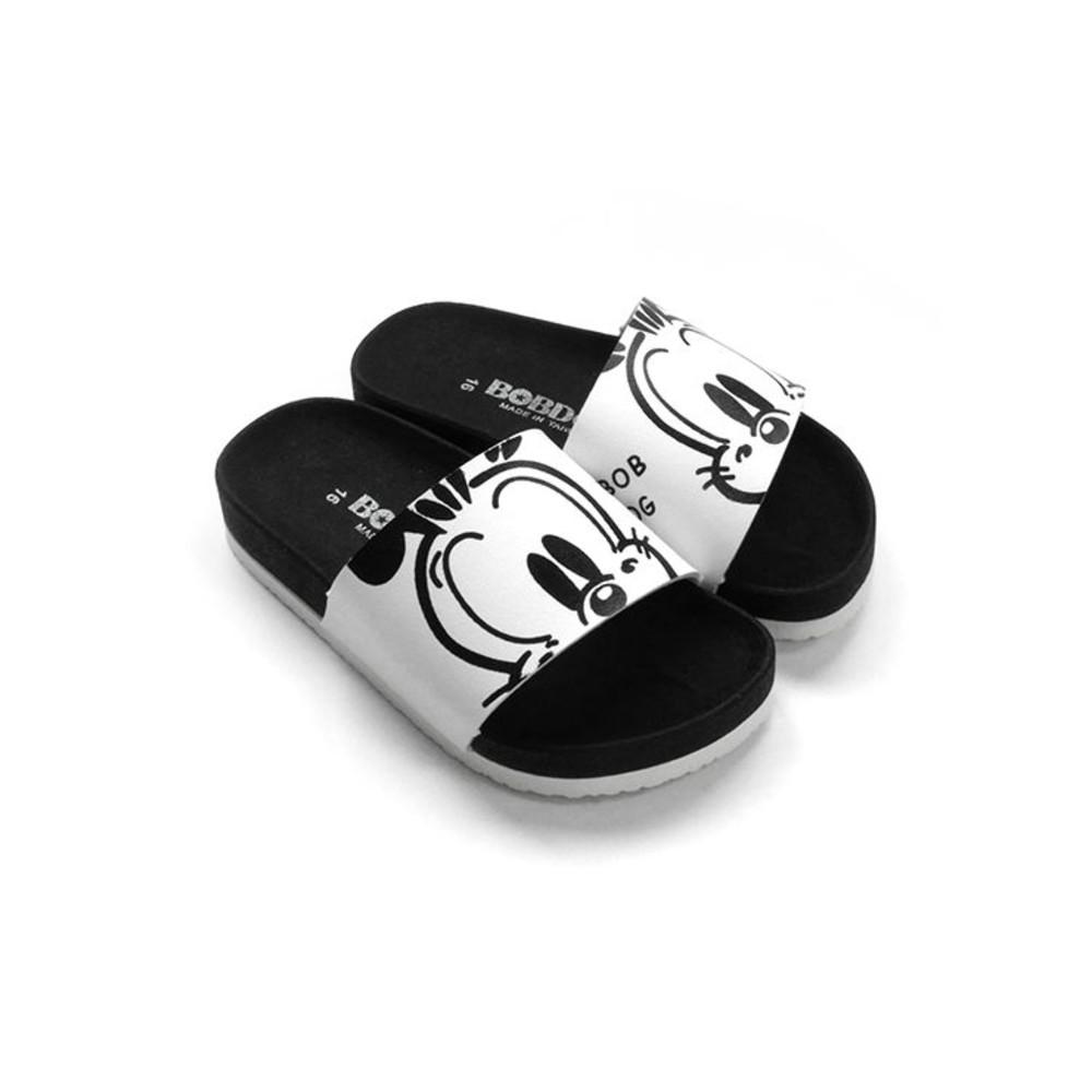 C096-台灣製巴布豆親子款拖鞋-白色