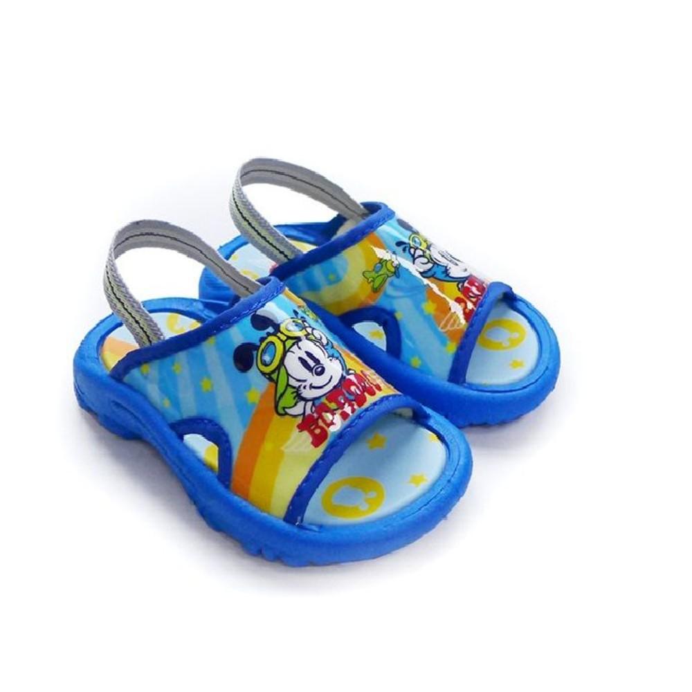 C098-台灣製巴布豆拖鞋-水藍
