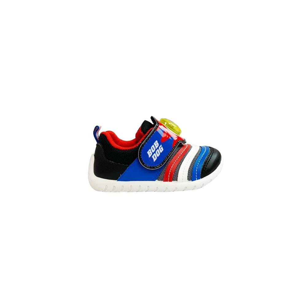 台灣製巴布豆輕量電燈鞋-黑藍