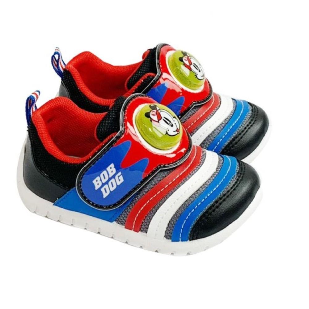 C099-1 - 台灣製巴布豆輕量電燈鞋-黑藍