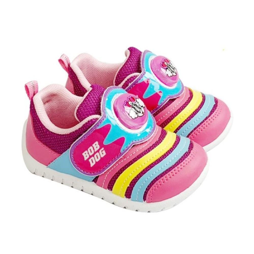 C099-台灣製巴布豆輕量電燈鞋-桃紫