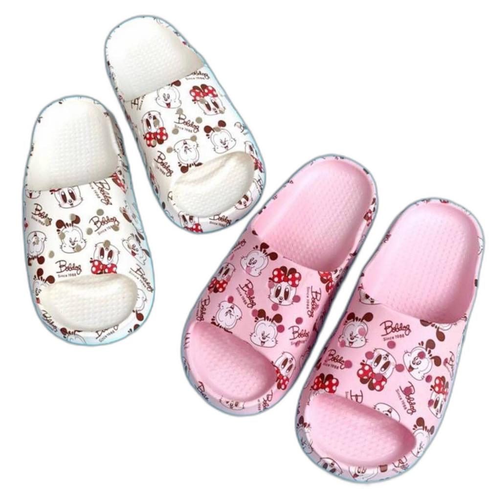巴布豆輕量拖鞋親子款-粉色